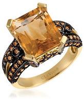 LeVian Chocolatier 1.03 TCW Diamonds, Citrine and 14K Yellow Gold Ring