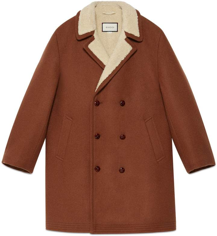 Gucci Embroidered wool mohair coat