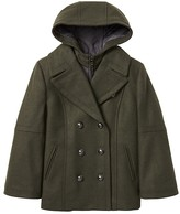 Banana Republic Hooded Peacoat with Removeable Liner