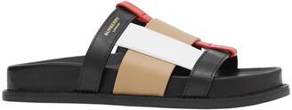 Burberry Ellendale Check Woven Pool Sandals