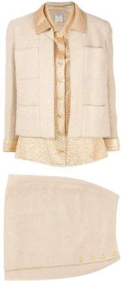 Chanel Pre Owned three-piece skirt suit