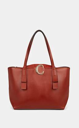 Chloé Women's Initial C Leather Tote Bag - Brown