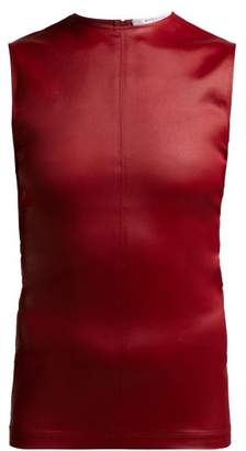Givenchy Sleeveless Jersey Top - Womens - Burgundy