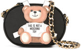Moschino toy bear paper cut out crossbody bag - women - Leather - One Size