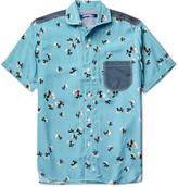 Junya Watanabe - Cotton-chambray Trimmed Printed Woven Shirt