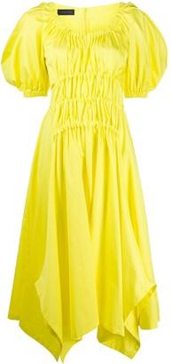 Eudon Choi puff-sleeve shirred dress