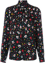 Marc Jacobs floral tie neck blouse - women - Silk - 6