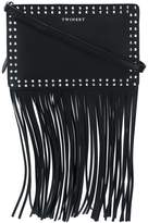 Twin-Set fringed studded shoulder bag