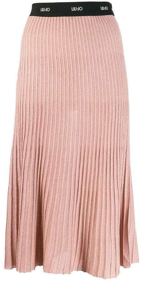 Liu Jo ribbed midi skirt