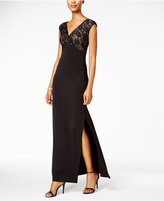 Connected Lace V-Neck Gown