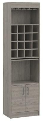 Ebern Designs Lovelady Bar Cabinet Color: Light Gray