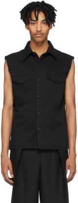 Ami Alexandre Mattiussi Black Denim Sleeveless Shirt