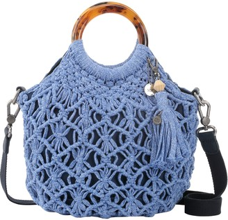 The Sak Helena Bracelet Handle Crocheted Crossbody Handbag