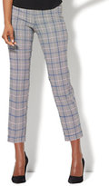 New York & Co. 7th Avenue Pant - Pull-On Cuffed Ankle - Modern - Plaid