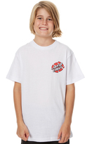 Santa Cruz Kids Boys Wolf Slasher Tee White