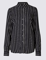 M&S Collection Striped Long Sleeve Shirt