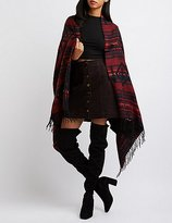 Charlotte Russe Aztec Toggle Poncho Sweater