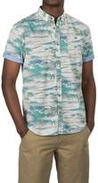 Free Nature Hawaiian Palm Tree Print Shirt - Woven Cotton, Short Sleeve (For Men)