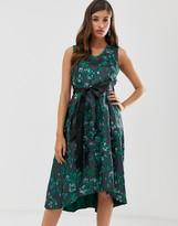 Closet London Closet pleated high low dress