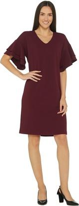 Belle By Kim Gravel Flutter Sleeve Dress