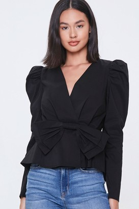 Forever 21 Surplice Bow Top