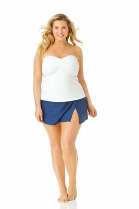 Catalina Women's Plus-Size Twist Front Bandeau Tankini Swimsuit