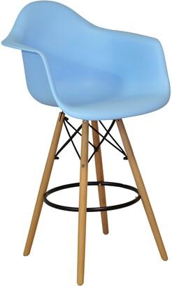 Design Tree Home Handmade Mid-century Modern Molded Plastic 26-inch Armchair/ Counter Stool