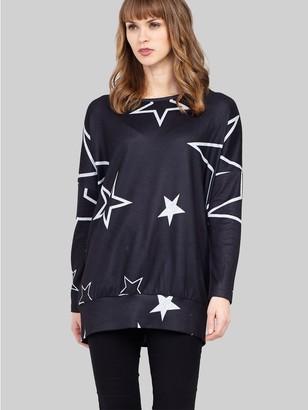 M&Co Izabel star print longline jumper