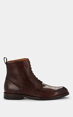Barneys New York Men's Leather Lace-Up Boots - Dk. brown