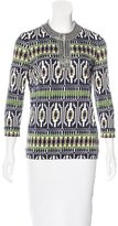Tory Burch Embellished Silk Blouse