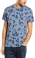 French Connection Men's Summer Ink Floral Crew Neck Floral Short Sleeve T-Shirt