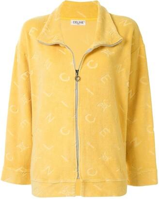 Céline Pre Owned Pre-Owned Logo Pattern Zip-Up Jacket