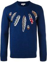 Paul & Joe 'feathers' motif pullover