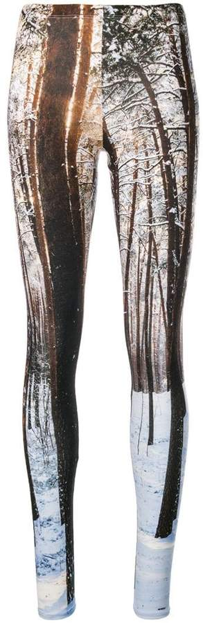 R 13 landscape-print leggings