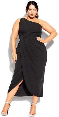 City Chic True Love Dress - black