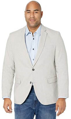 Johnny Bigg Big Tall Reese Linen Blend Blazer (Stone) Men's Jacket