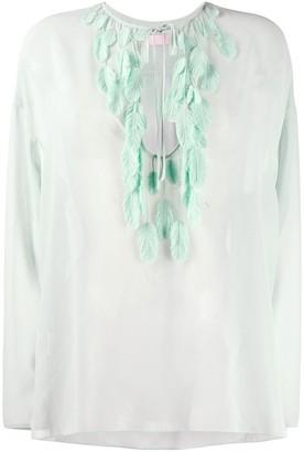 Giamba feather appliqué blouse