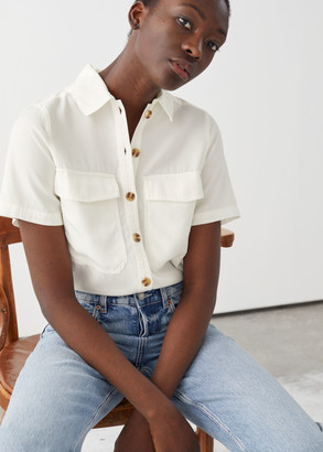 And other stories Relaxed Patch Pocket Shirt