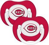 Baby Fanatic MLB Cincinnati Reds 2-Pack Pacifiers