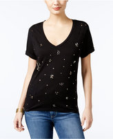 GUESS Ripped Embellished T-Shirt