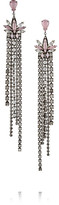 Erickson Beamon Lady Of Lake Oxidized Gunmetal-tone Swarovski Crystal Earrings - Silver