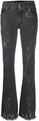 John Richmond Bootcut Distressed-Finish Jeans
