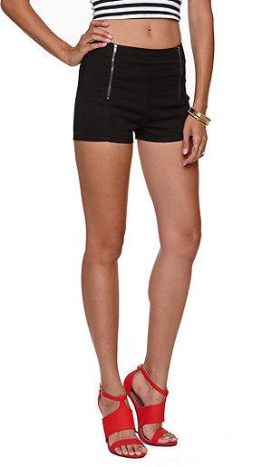 Bullhead Denim Co Rise Double Zip Black Shorts
