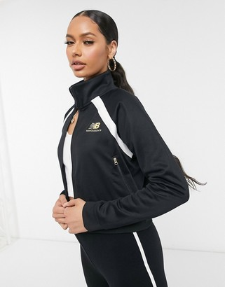 New Balance cropped jacket in black