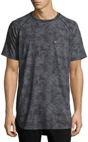 PRPS Dandelions Side-Zip Raglan T-Shirt, Black