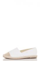 Quiz White And Gold Metallic Espadrille Pumps