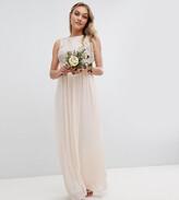 TFNC Petite Petite Maxi Bridesmaid Dress With Soft Floral Sequin Top