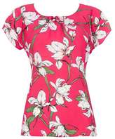 Wallis Petite Pink Lily Print Blouse