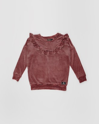 Rock Your Kid Velvet Stripe Ruffle Jumper - Kids