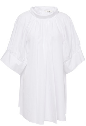 The Row Abel Gathered Cotton-poplin Top